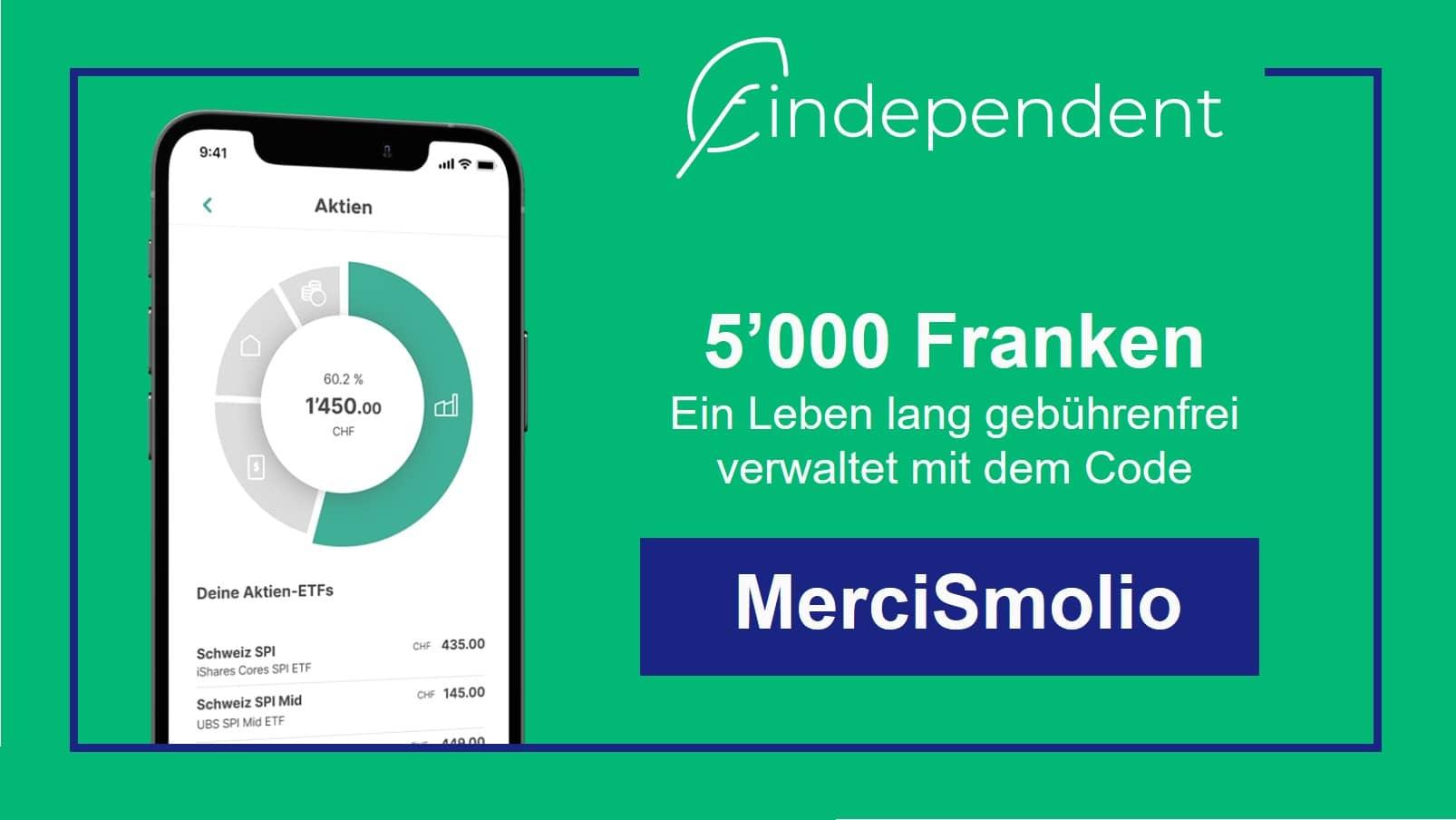 findependent Anlage App Code